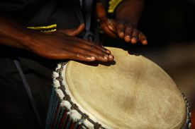 picture of reggae  - African musician playing the drums - JPG