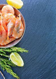 pic of shrimp  - shrimps on a table - JPG