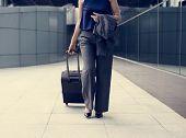 Businesswoman Traveler Journey Business Travel poster
