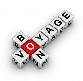 image of bon voyage  - bon voyage diagonal crossword puzzle travel symbol - JPG