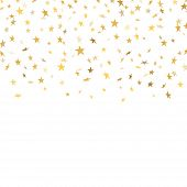 Gold Star Confetti Background poster