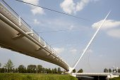 picture of calatrava  - One of three Calatrava bridges in Hoofddorp - JPG