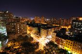 foto of new york night  - Nightscape of Lower Manhattan from atop a building - JPG