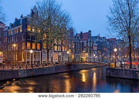 City scenic from Amsterdam in
