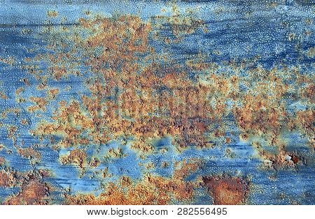 Rusty Painted Metal Texture Background