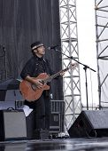 CLARK, NJ - SEPTEMBER 12: Guitarist Nils Lofgren performs at the Union County Music Fest on Septembe