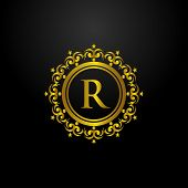 Luxury Logo, Letter R Logo, Classic And Elegant Logo Designs For Industry And Business, Interior Log poster