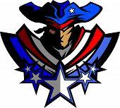 image of revolutionary war  - Colonial American Patriot Soldier Graphic Vector Image - JPG