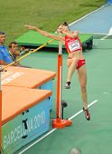 BARCELONA, SPAIN - AUGUST 01: Ruth Beitia of Spain competes on High Jump Final of the 20th European