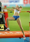 BARCELONA - AUG 1: Svetlana Shkolina of Russia during High Jump Final of the 20th European Athletics