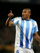 BARCELONA - JAN 16: Julio Baptista of Malaga during the spanish league match between FC Barcelona an