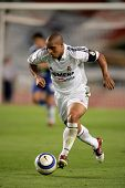 BARCELONA - SEPT 18: Brazilian player Roberto Carlos of Real Madrid in action during the match betwe