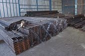 Stock Types Of Steel Are New To Work Construction And Building Systems. poster