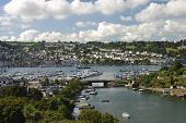 picture of dartmouth  - Landscape of Dartmout Harbour with all the recreational and fishing boats and yachts - JPG