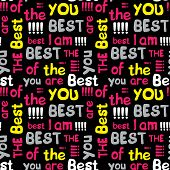 Decorative Seamless Pattern With Crossed Words best Of The Best poster