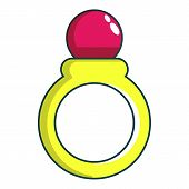 Princess Ring Icon. Cartoon Illustration Of Princess Ring Icon For Web Design poster
