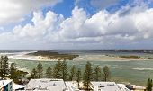 image of bribie  - North tip of the Bribie Island seen from Caloundra in the Sunshine Coast, Australia.  ** Note: Slight graininess, best at smaller sizes  - JPG