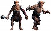 Fantasy Trolls, Ogres Or Giants 3d Illustration poster