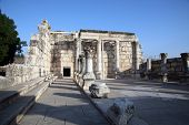 Ruins of the great synagogue of Capernaum, Israel.
