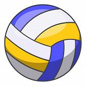 Volleyball Ball Icon. Cartoon Illustration Of Volleyball Ball Icon For Web Design poster