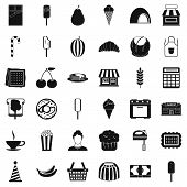 Good Dessert Icons Set. Simple Style Of 36 Good Dessert Icons For Web Isolated On White Background poster