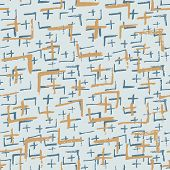 Tie Dye Japanese Geometric Winter Seamless Pattern. Scribble Cartoon Doodle Craft Texture. Boho Tie  poster