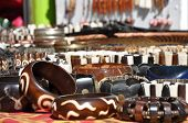 stock photo of curio  - African curios at a market in South Africa - JPG