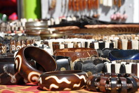 pic of curio  - African curios at a market in South Africa - JPG