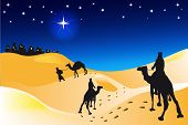 stock photo of desert christmas  - an illustration for christmas day - JPG