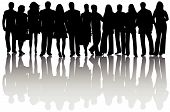 picture of person silhouette  - Illustration of people silhouettes and shadow black - JPG