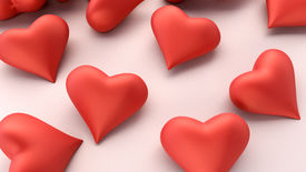 picture of glans  - Many hearts on a light background - JPG