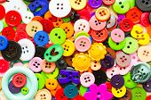 Colorful Plastic Sewing Buttons