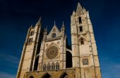 picture of eardrum  - Cathedral of Leon in Spain. Front of Reckoning or Portada del Juicio