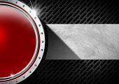 Постер, плакат: Red And Metal Abstract Background