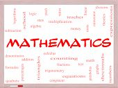pic of fraction  - Mathematics Word Cloud Concept on a Whiteboard with great terms such as fractions algebra calculus and more - JPG