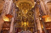 Basilica Altar Church Of El Salvador Seville Andalusia Spain