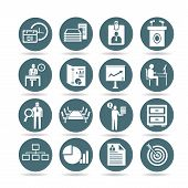 image of hierarchy  - set of 16 business management icons - JPG