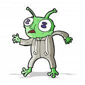 picture of spaceman  - cartoon alien spaceman - JPG