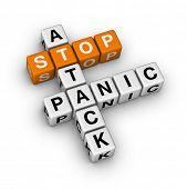 stock photo of panic  - stop panic attack  - JPG