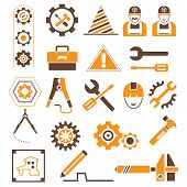 stock photo of habilis  - engineering icons - JPG