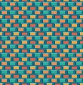 stock photo of arcade  - Old school 8 bit brick arcade game style background  - JPG