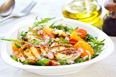 image of rocket salad  - Grilled Halloumi with PomegranateOrange and Rocket salad - JPG
