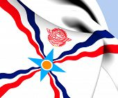 stock photo of mesopotamia  - 3D Flag of the Assyria - JPG