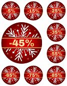 image of year end sale  - Sale tags for christmas or new year or winter sale out - JPG