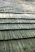 image of shingles  - Old wooden shingle roof - JPG