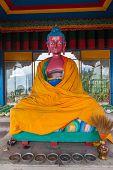 pic of sherpa  - Dressed Buddha statue in Sonada Monastery India - JPG