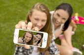 pic of pouting  - Teenage girls making a selfie  - JPG