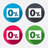 picture of zero  - Zero percent sign icon - JPG