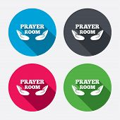 pic of priest  - Prayer room sign icon - JPG