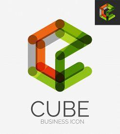 picture of emblem  - Minimal line design logo - JPG
